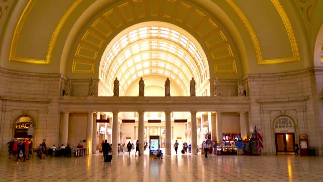 Union Station Washington DC. Interior Architecture. Illuminated. Beautiful Scenery.