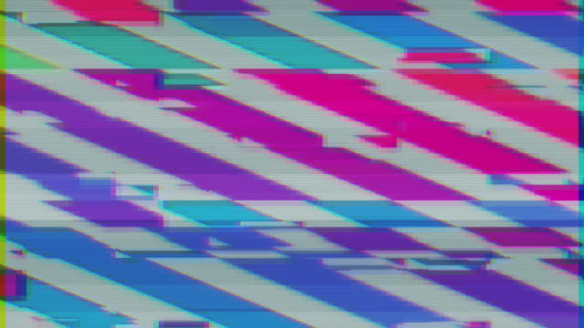 Unique Design Abstract Colorful Noise Glitch Video Damage video
