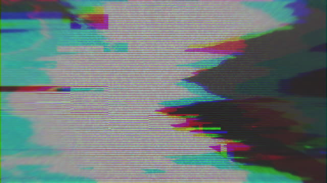 unique design abstract digital animation pixel noise glitch error video damage - zniekształcony obraz filmów i materiałów b-roll