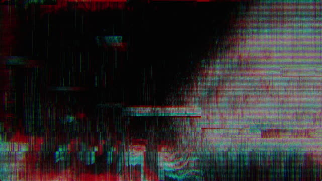 unique design abstract digital animation pixel noise glitch error video damage - ciemny filmów i materiałów b-roll