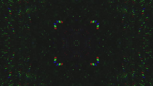 unique design abstract symmetry and reflection digital pixel noise glitch background - errore video stock e b–roll