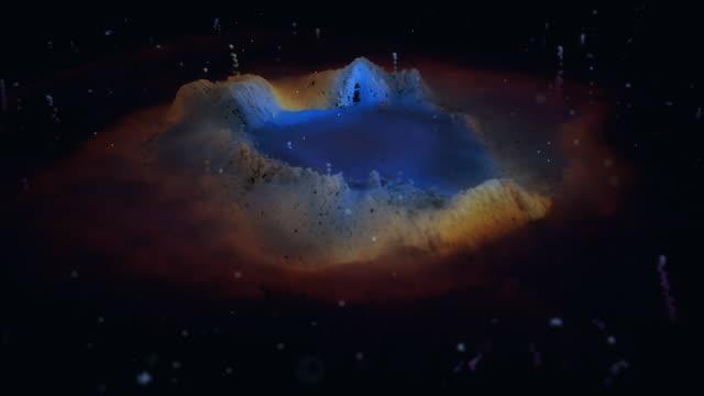 vídeos de stock e filmes b-roll de unique particle recreation of the helix nebula - astrologia