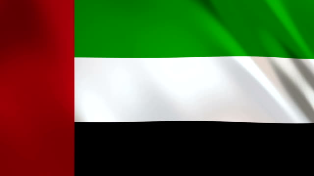 флаг объединенных арабских эмиратов развевается - uae national day стоковые видео и кадры b-roll