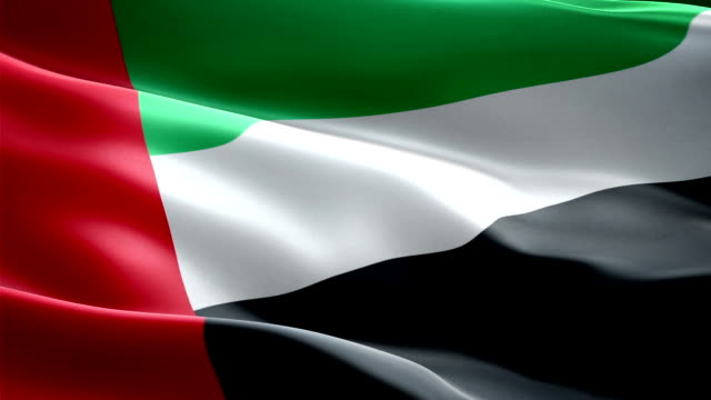 объединенные арабские эмираты национальный флаг. (новый рост и освещение эффект - uae flag стоковые видео и кадры b-roll