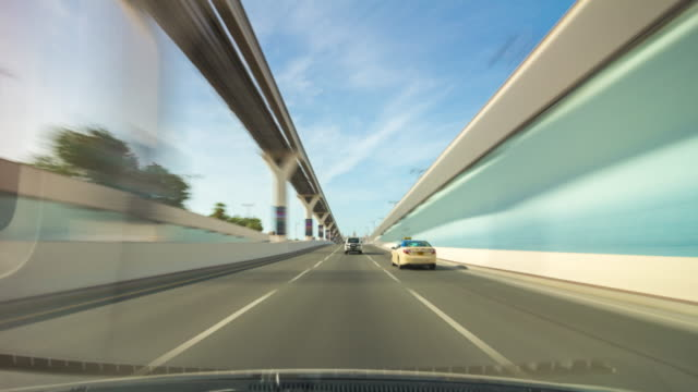 united arab emirates summer day dubai famous jumeirah palm road trip panorama 4k time lapse video
