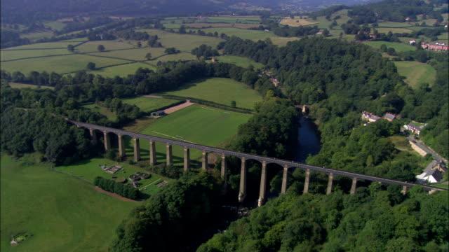 United Kingdom - Cefn Mawr Viaduct - aerial view video