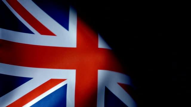 United Kingdom Flag Flapping