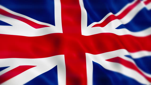 united kingdom flag - bandiera nazionale video stock e b–roll