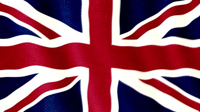 United Kingdom flag waving animation video
