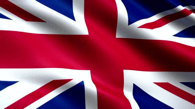 vídeos de stock e filmes b-roll de united kingdom looping flag 4k - reino unido