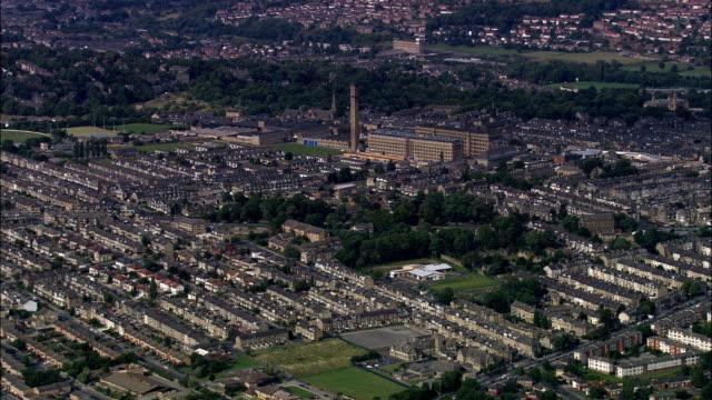 United Kingdom - Manningham Mills, Bradford  - aerial view video
