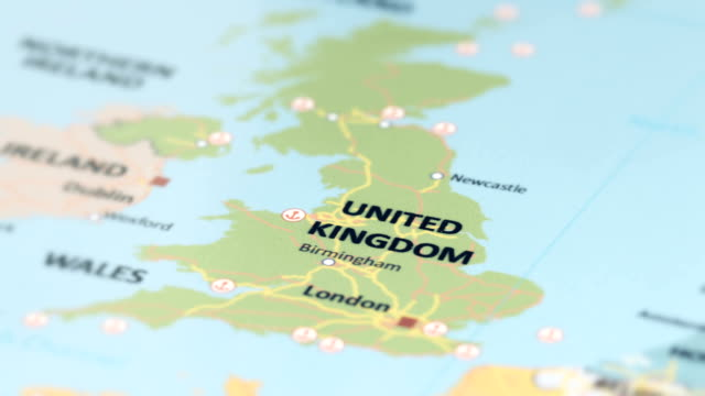 United Kingdom On The World Map.Europe United Kingdom On World Map Stock Video More Clips Of 4k