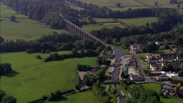 United Kingdom - Pontcysyllte Aqueduct - aerial view video