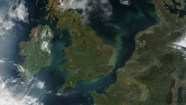 United Kingdom UK From Space video