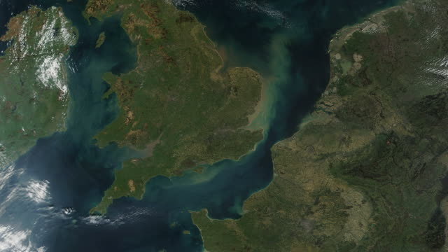 United Kingdom UK From Space United Kingdom UK From Space with Wales and Ireland. uk map stock videos & royalty-free footage
