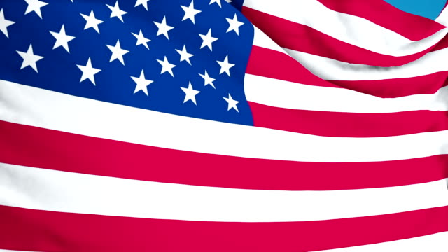 United State of America flag fluttering. 3d render. Seamless Loop video