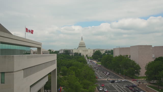 United States Capitol and Pennsylvania Avenue in Washington, DC - 4k/UHD video