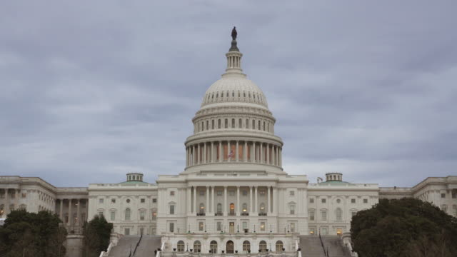 United States Capitol Building West Facade in Washington, DC - UltraHD video