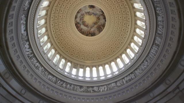 United States Capitol Rotunda in Washington, DC - 4k/UHD video