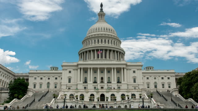 United States Capitol West in Washington, DC - Time Lapse Zoom In - 4k/UHD video
