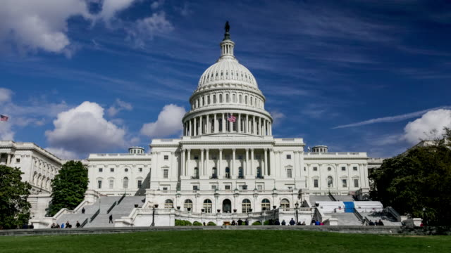 united states capitol west in washington, dc - democrazia video stock e b–roll