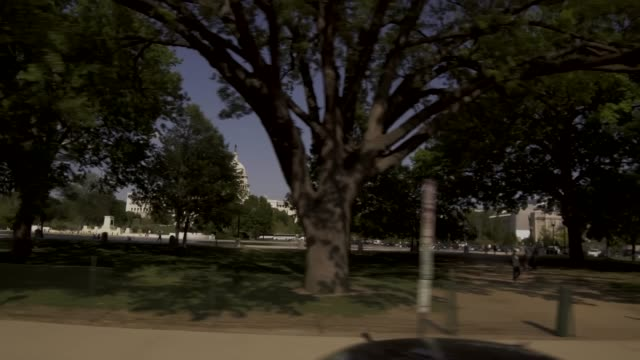 United States Capitol West Lawn Drive By in Washington, DC - 4k/UHD video
