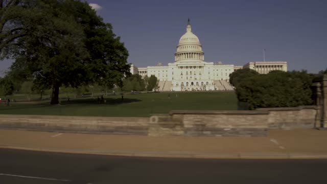 United States Capitol West Lawn Drive By in Washington, DC video