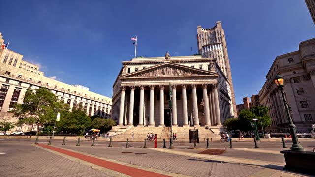 united states court house, new york county högsta domstolen, foley square - domstol bildbanksvideor och videomaterial från bakom kulisserna