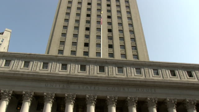 united states courthouse in new york city - domstol bildbanksvideor och videomaterial från bakom kulisserna