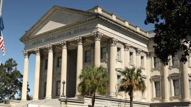 United States Custom House in downtown Charleston South Carolina United States Custom House in downtown Charleston South Carolina USA south carolina stock videos & royalty-free footage