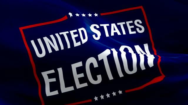 wybory w stanach zjednoczonych 2020 prezydent flaga wideo macha na wietrze. głosować na wybory prezydenckie tło flaga białego domu. stany zjednoczone wybory flaga zapętlanie zbliżenie 1080p full hd 1920x1080. - white house filmów i materiałów b-roll