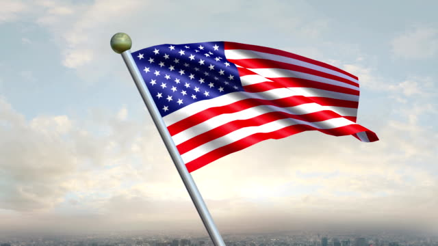 United States Flag Animation video