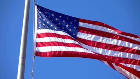 vídeos y material grabado en eventos de stock de bandera de estados unidos ondeando en el viento en cámara lenta 120fps - cultura estadounidense