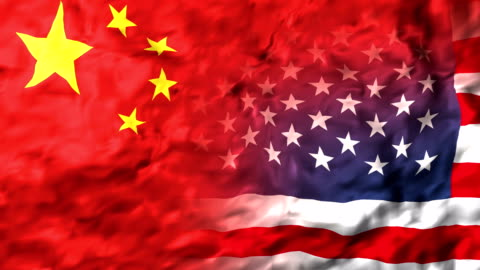 United States of America and China flag. Slow Motion Animation United States of America and China flag. Slow Motion Animation usa stock videos & royalty-free footage