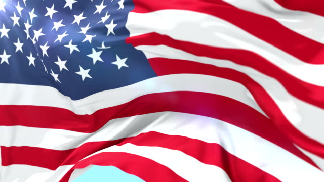 united states of american flag waving, loop - us flag filmów i materiałów b-roll