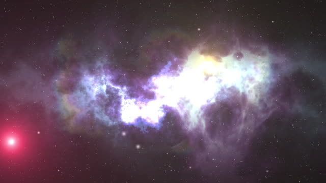Universe filled with stars, nebula and galaxy. Motion. Seamless loop animation of galaxy Milky Way. video
