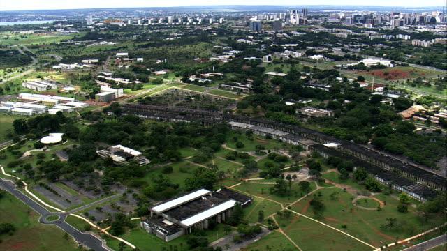 Universidade de Brasília-Vista aérea-Distrito Federal, Brasília, Brasil - vídeo