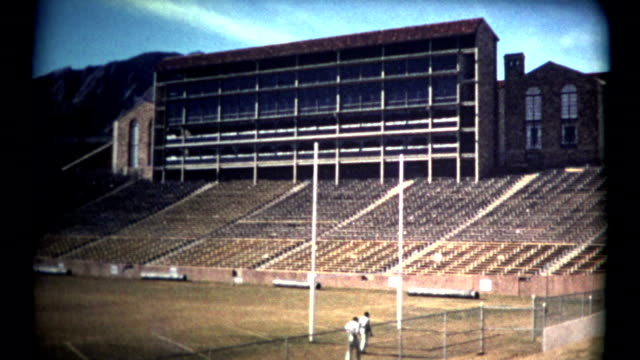 (1960's 8mm Vintage) University of Colorado at Boulder Old Stadium Shots video