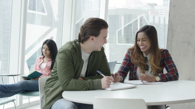 University students working together video