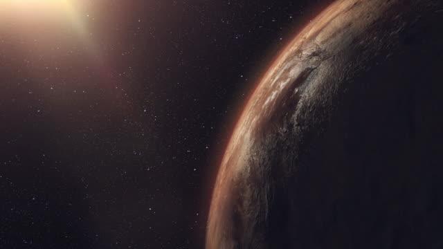 unknown planet beyond our solar system - badawczy statek kosmiczny filmów i materiałów b-roll
