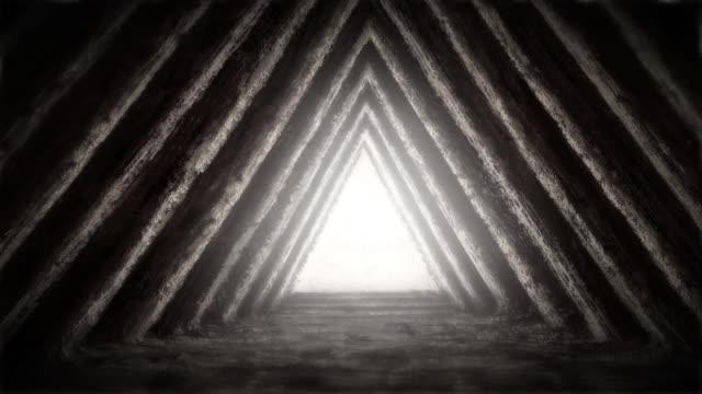 unknown temple of destiny in pyramid. - archeologia video stock e b–roll