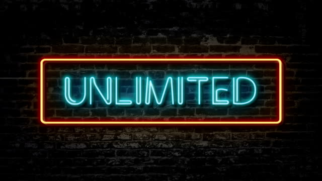 Unlimited neon sign video