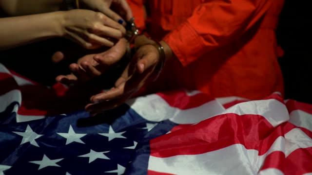 Unlocking the handcuffs video
