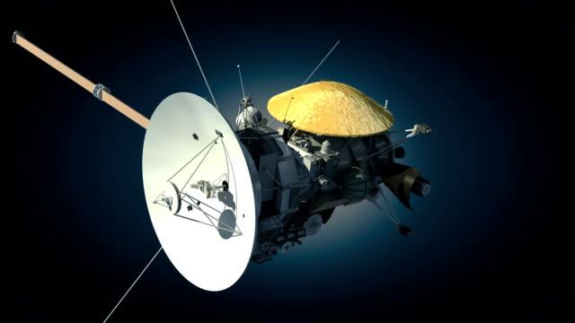 Unmanned spacecraft orbiter video