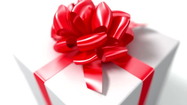 Unpacking a Gift. Unpacking a Gift. beautiful 3d animation with a depth of field. Full HD (See more animations with presents in my portfolio) gifts stock videos & royalty-free footage