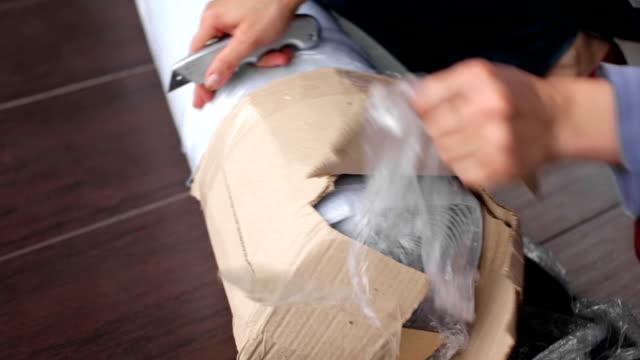 Unpacking carpeting video