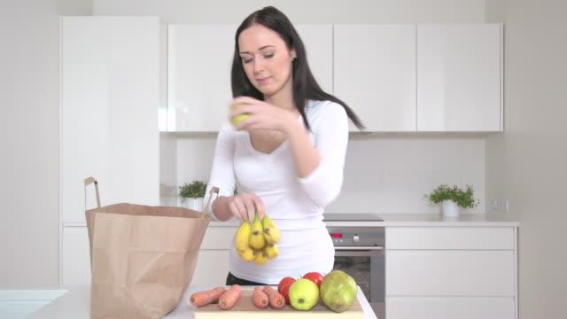 Unpacking groceries video