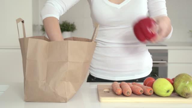 Unpacking vegetables video