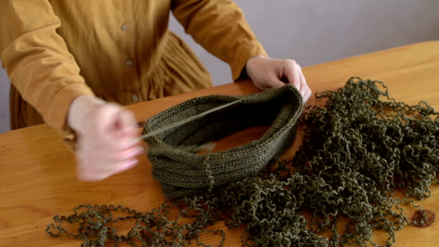 Unravelling the knitting video