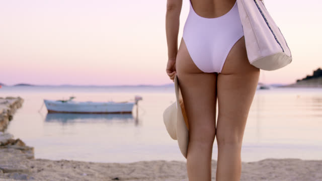 DS Unrecognizable woman standing on a pier video